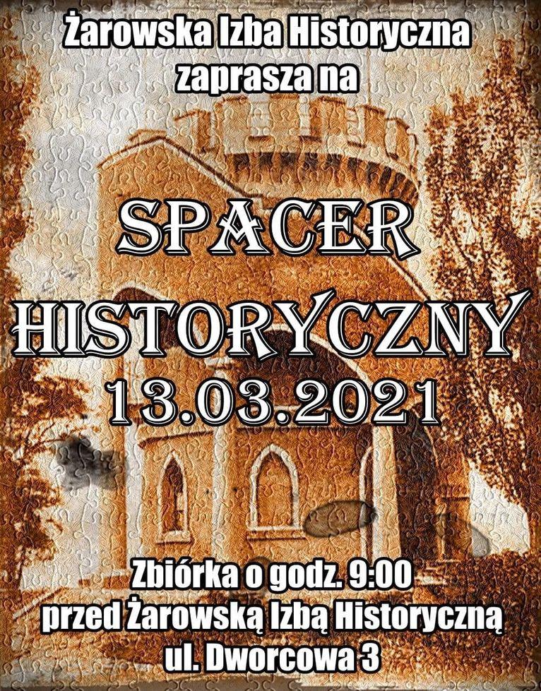 spacer historyczny plakat