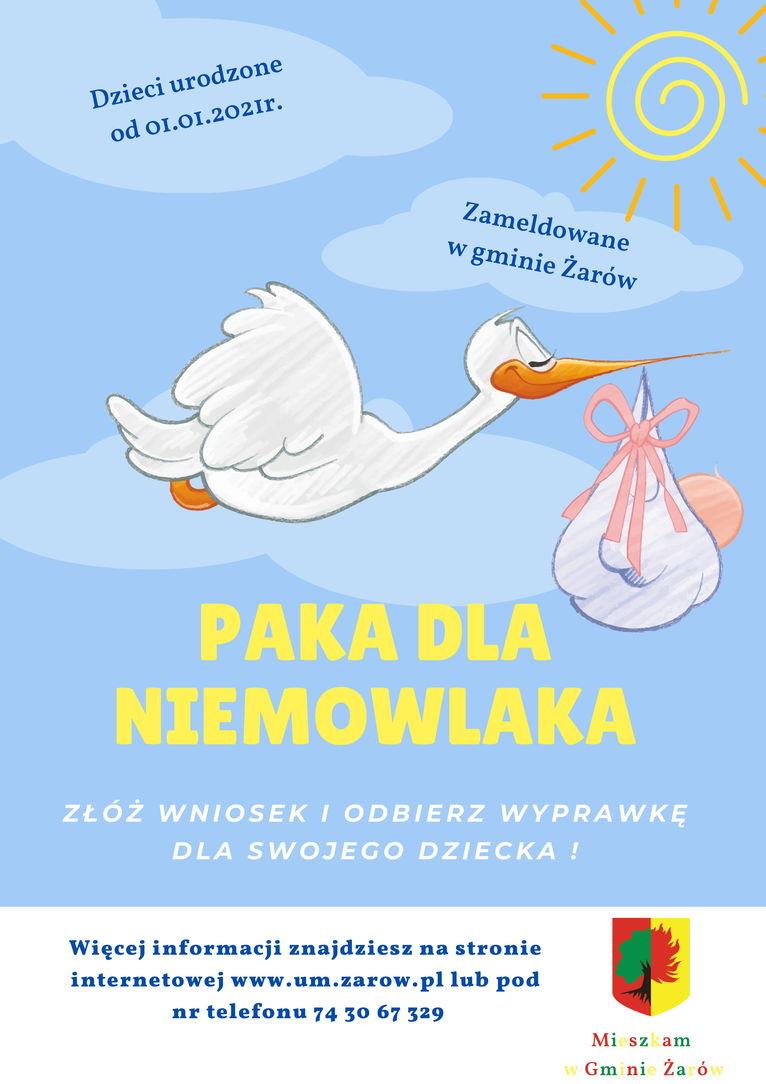 plakat Paka dla Niemowlaka